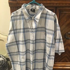 Men's shirt blue and white strips